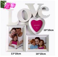 """Рамка для фото """"Love"""" на три фото"""