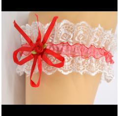 Подвязка для невесты красная